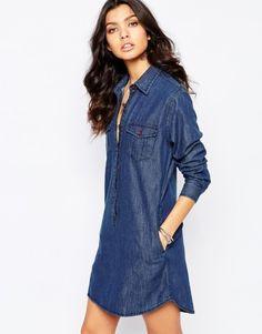 Reclaimed Vintage Denim Shirt Dress