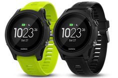 The Garmin Forerunner 935 packs a lot of features and smarts into its svelte 49 grams, and help track and train runners, triathletes, and more. #fitness #watch #watches #exercise #running #triathlon #cycling #GPS