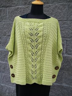 Ravelry: Summer Leaf Poncho pattern by Michele C Meadows