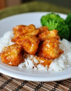 Oven Baked Sweet and Sour Chicken - Mike liked the pineapple juice and less sugar but not the pineapple chunks. Baked out to much sauce. Doubled the sauce for 5 chicken breasts. (Baking Sweet And Sour Chicken) Sweet Sour Chicken, Baked Chicken, Chicken Recipes, Orange Chicken, Chicken Sauce, Lemon Chicken, Chicken Bites, Sesame Chicken, Chicken Meatballs