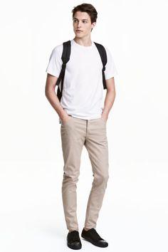 Keprové kalhoty Slim fit