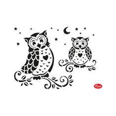 Viva Decor Universal Stencil - Owls #332