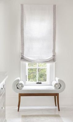 Bamboo Blinds Living Room blinds for windows bottom up.Bedroom Blinds Home Decor. Living Room Blinds, Bedroom Blinds, Fabric Blinds, Curtains With Blinds, Grey Blinds, Valances, Window Coverings, Window Treatments, Store Bateau