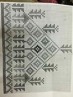 Kanaviçe Embroidery Patterns, Hand Embroidery, Cross Stitch Patterns, Graph Paper, Bargello, Bunt, Needlepoint, Filet Crochet, Blackwork