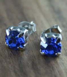Blue crystal earrings Swarovski Crystal