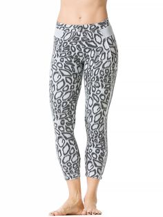 Charcoal Leopard High Wire Piped Crop Legging #hardtailforever