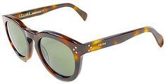 Celine CL 41801 05L Havana Plastic Sunglasses Grey Lens