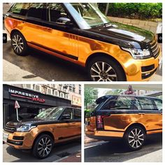 Now we've seen it all. Range Rover 'Copper Rose' wrap by Impressive Wraps…