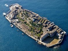 Gunkanjima, An Abandoned Island in Nagasaki.  Hashima Island in Nagasaki Prefecture, commonly called Gunkanjima, used to be densely populated for offshore coal mining. Its coal mines began shutting down in 1974 and Gunkanjima has become a deserted island. The island is attracting tourists because visiting abandoned sites has become a trend recently.