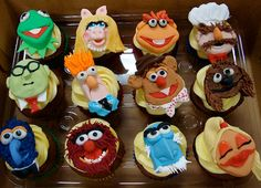 muppets cupcakes! These are too cute, I especially love the Beaker one!