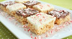 Put an exciting festive twist on a favorite classic with these Peppermint Rice Krispie Treats. They are one of my favorite treats! I think they may even be