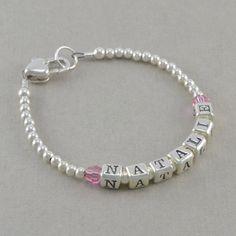 Baby Bracelets sterling silver  heart by SixSistersBeadworks, $40.00