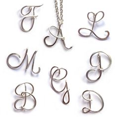 Personalised Initial Necklace | Sterling Silver Wire Letter Necklace | Kian Designs Handmade Jewellery UK £25.00