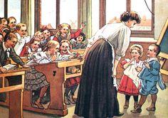Cornelis Jetses (Groningen, June 1873 - Wassenaar, June was a Dutch illustrator. School Images, School Pictures, School Daze, Art School, Old School House, Vintage School, Dutch Artists, The Old Days, True Art