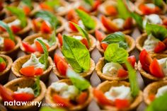 Heirloom tomato basil mascarpone tartlets | Ravishing Radish Catering | Nataworry Photography