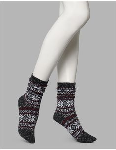 Fairisle Boot Socks - 1 Pair Pack (NS6054), No nonsense Women's Boot Socks | Boot Socks for Women - All Colors