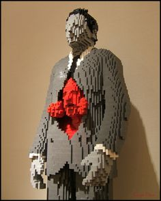 """""""Emergence of an Artist"""",Nathan Sawaya. From the photographer Tony Fischer: """"This Lego sculpture is from the Nathan Sawaya exhibit at the Flinn Gallery in Greenwich, Connecticut. His great work is for sale and please check out his home page at www.brickartist.com  .""""Mr. Sawaya is a former lawyer who left his job to become a full time artist ."""