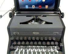 An iPad Typewriter keyboard!