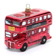 Autobús de Londres adorno vidrio soplado Árbol de Navidad   venta online en HOLYART