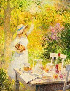 Garden Paintings by Jos Pauwels (1918-1976) Belgian Artist ~ Blog of an Art Admirer