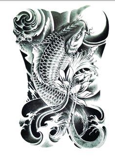 Realistic Koi Tattoo/Large Size by FlashTattoosLA on Etsy
