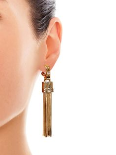 Lanvin Art Deco tassel earrings
