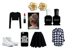 """""""What happens on a summer day bored af in my room"""" by nelli-here ❤ liked on Polyvore featuring Chicwish, Deborah Lippmann, MAC Cosmetics, Converse and Summer"""