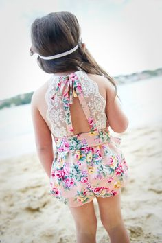 ju ju Creations spring summer 14/15 collection - the Audrey playsuit. #kidsstyle…