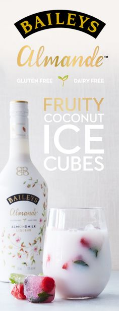 Cool off this summer by adding light-tasting, fruity Baileys Almande coconut ice cubes to any cocktail. This PureWow recipe is pretty and easy to make – and this dairy free, gluten free and vegan recipe complements any outdoor brunch or girls night in.