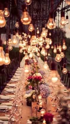 bohemian-style outdoor dining/ lighting