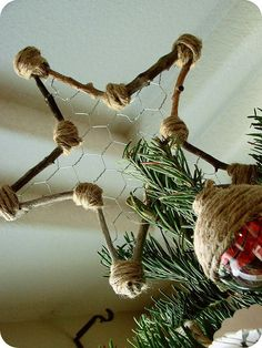 Upcycled Star Tree Topper.