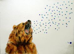 Bear Painting by chantelyoung on Etsy