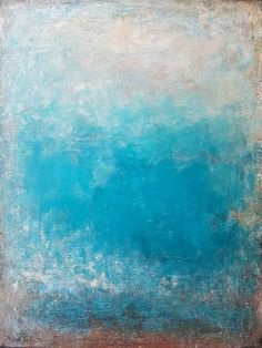 'Turquoise' by Artem Bryl. Acrylic and mixed media on canvas, 91.5 X 122 cm #Turquoise #blues #blue-green #artembrylart