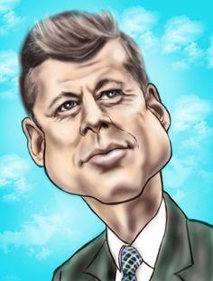 35-Kennedy - Creative Art in Digital Art by Alan Davis in Portfolio My Caricatures at Touchtalent