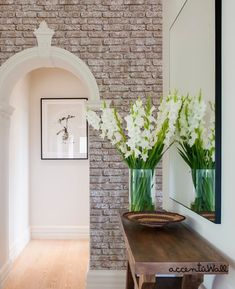 Whitewashed Vintage Brick Wallpaper - Peel and Stick, Wood Wall Paneling, Wood Wall Art Wallpaper Samples, Fabric Wallpaper, Wallpaper Roll, Brick Wallpaper Peel And Stick, Brick Arch, White Wash Brick, Exposed Brick, Traditional Wallpaper, House Rooms