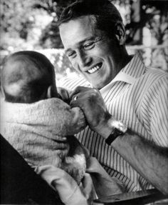 Paul Newman and daughter Clair, 1965 - nothing more beautiful than father and daughter!!!