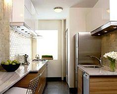 Colores y texturas para cocina estrecha y alargada | Decorar tu casa es facilisimo.com