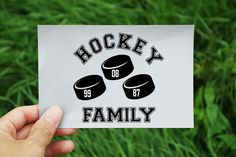Hockey Family Personalized Puck Numbers by VitalSignCreations