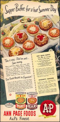 Hot Bean Buffet and Spaghetti Quickies!  Yes, Spaghetti Quickies!  (Woman's Day, 1949)