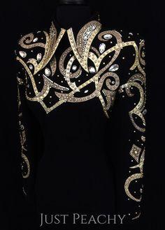 Black and Gold Horsemanship Shirt by Carolina ~ Ladies Small