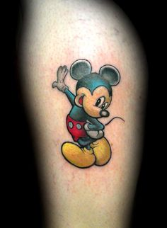 Jay Blackburn - Full color Mickey Mouse tattoo