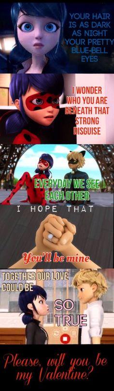 El poema de Adrien Agreste para Ladybug