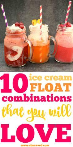 Ice Cream Drinks, Ice Cream Floats, Ice Cream Party, Frozen Desserts, Frozen Treats, Milkshake Recipes, Milkshakes, Pink Lemonade Recipes, Tasty Ice Cream