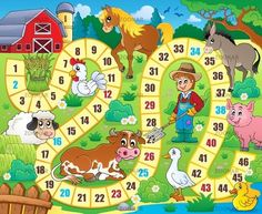 Lunarable Board Game Pet Mat for Food and Water, Rustic Farmhouse Agricultural Environment Animals Spring in Woods Nursery Design, Rectangle Non-Slip Rubber Mat for Dogs and Cats, Multicolor, Board Game Template, Printable Board Games, Board Game Themes, Board Games For Kids, Wood Nursery, Farm Activities, English Games, Farm Theme, Pet Mat