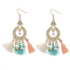 Long Tassel Bohemian Earrings for Women | Glamorize Yourself