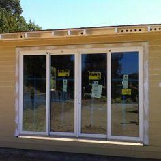 Pella 4 Panel Sliding Patio Doors French Doors Patio, Sliding Patio Doors, Sliding Glass Door, French Patio, Glass Storm Doors, Glass Doors, Interior Design Colleges, Interior Trim, Interior Paint