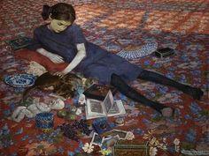 Bambina che gioca su un tappeto rosso. 1912. Gand. Museum voor Schone Kunsten