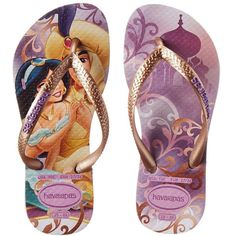 Havaianas Kids Slim Princess Disney Flip Flops (Toddler/Little Kid/Big... ($19) ❤ liked on Polyvore featuring sandals and soft lilac