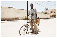 Portrait of a photographer in Ziguinchor, Sénégal