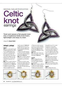 Celtic knot earrings pattern